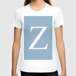 Letter Z sign on placid blue background T-shirt