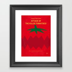No499 My Attack of the Killer Tomatoes minimal movie poster Framed Art Print