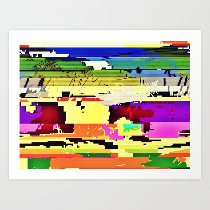 Paint On The Monitor #2 Art Print