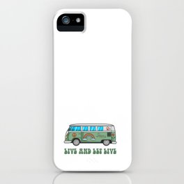 Hippie Bus T-Shirt iPhone Case