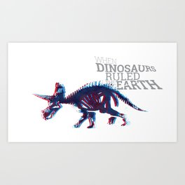 When Dinosaurs Ruled The Earth - Triceratops Art Print