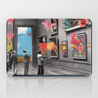 grey iPad Cases featuring Natural History Museum by Eugenia Loli