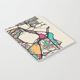 Colorful City Maps: Arlington County, Virginia Notebook