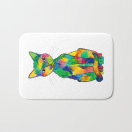 Rainbow Cat Bath Mat