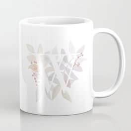 Monogram W - Rustic Watercolor Coffee Mug