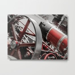 Miniature Traction Engine bywhacky Metal Print