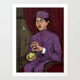 Lobby Boy with Apple Art Print