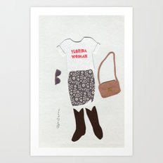 Florida Woman Outfit Art Print