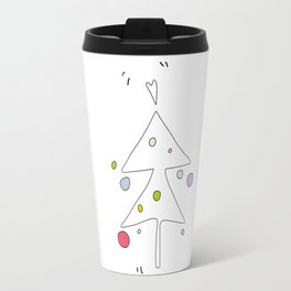 Cute Graphic Christmas Tree Travel Mug