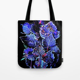 Rime Leaves Abstract Tote Bag