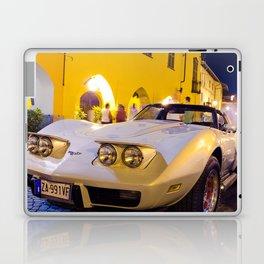 Chevrolet Corvette in italian village Laptop & iPad Skin