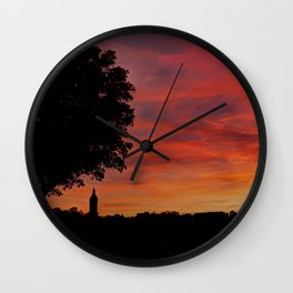 Gorgeous sunset in LOVE Wall Clock
