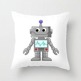 Science Fair Champion Cute Robot Throw Pillow