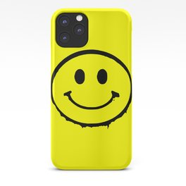smiley face rave music logo iPhone Case