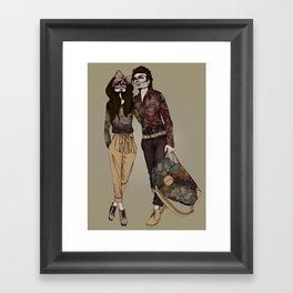 Floral Couple Framed Art Print