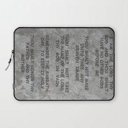 10 Commandments Faux Stone Tablet Case 1 of 2 Laptop Sleeve