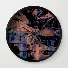 Aqua Village Hill Wall Clock