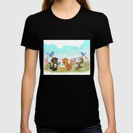 Three Kittens Washing Mittens T-shirt