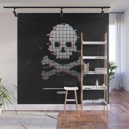 Loading death glitch pixel art Wall Mural
