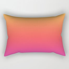 Ombre Colorful Summer Gradient Pattern Rectangular Pillow