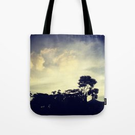 Tropical sunset Tote Bag