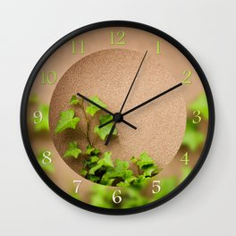 young leaves of hedera helix ivy Wall Clock