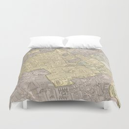 Vintage Map of Edinburgh Scotland (1901) Duvet Cover