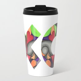 Love is a full contact sport Travel Mug