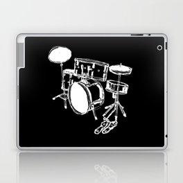 Drum Kit Rock Black White Laptop & iPad Skin