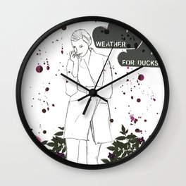 Lovely Weather Wall Clock