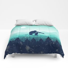 Snowboard Skyline II Comforters