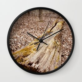 Forest Log Wall Clock