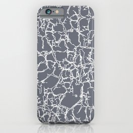 Gray and White Abstract Minimal Modern Home Goods Design iPhone Case