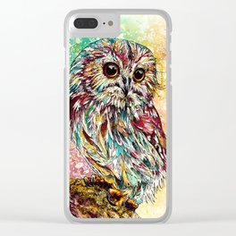 """""""Moonchild"""" Owl Clear iPhone Case"""
