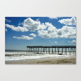 Silhouetted pier Canvas Print