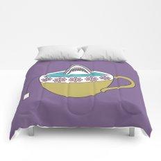 Shark in Tea Comforters