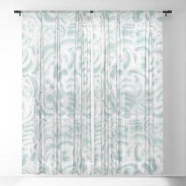 Dye Curves Blue Surf Sheer Curtain