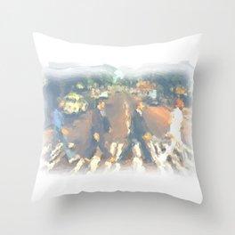 John, Paul, George, Ringo Throw Pillow
