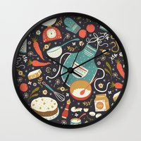 coasters Wall Clocks featuring Carrot Cake by Anna Deegan