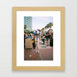 Hello R2D2 Framed Art Print