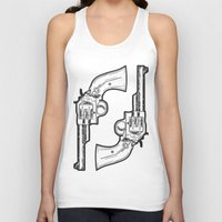 guns Tank Tops featuring Guns by Dahlia Inspirations