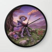 fancy Wall Clocks featuring Fancy by Benjamin Clair