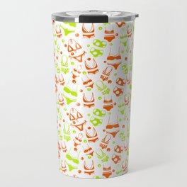 Lime Green and Orange summery Bikinis Travel Mug