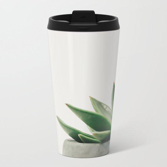 Minimal Cactus - Cacti Photography Metal Travel Mug