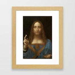 Price Slashed on 450M Leonardo da Vinci Salvator Mundi Framed Art Print