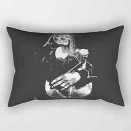 Old man with guitar  Rectangular Pillow