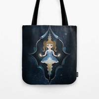 starry night Tote Bags featuring Starry by NuriaDrella