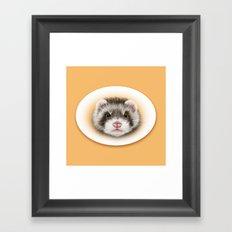 angry ferret Framed Art Print