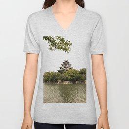 Hiroshima Castle Unisex V-Neck