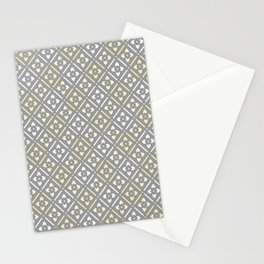 Greige Floral Stationery Cards